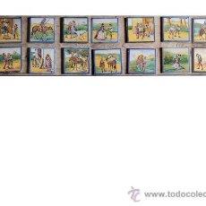 Antigüedades: LOTE DE AZULEJOS DE MANISES. Lote 27838396