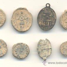 Antigüedades: BARATO LOTE DE OCHO MUY ANTIGUAS MEDALLAS A CLASIFICAR (ALGUNAS EN PLOMO) TAMAÑO PEQUEÑO. Lote 27864011