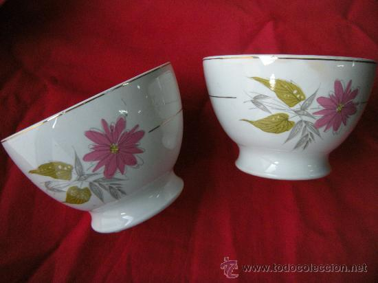 PAREJA DE TAZONES SAN CLAUDIO (Antigüedades - Porcelanas y Cerámicas - San Claudio)