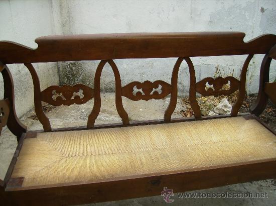 Antigüedades: bonito sofá de anea esta perfecto ni tiene ni ha tenido carcoma 1,50 de largo 48 fond 90 de alt - Foto 2 - 27892654