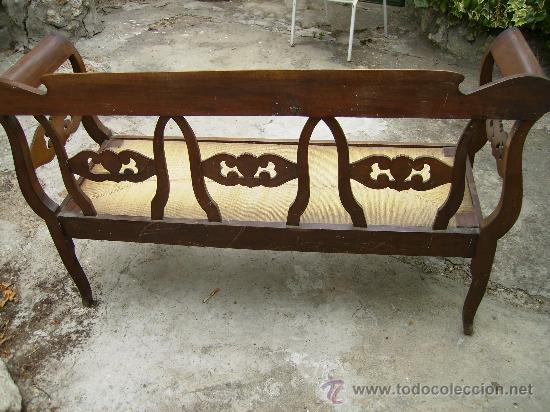 Antigüedades: bonito sofá de anea esta perfecto ni tiene ni ha tenido carcoma 1,50 de largo 48 fond 90 de alt - Foto 3 - 27892654