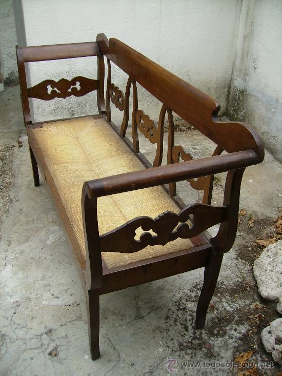 Antigüedades: bonito sofá de anea esta perfecto ni tiene ni ha tenido carcoma 1,50 de largo 48 fond 90 de alt - Foto 4 - 27892654