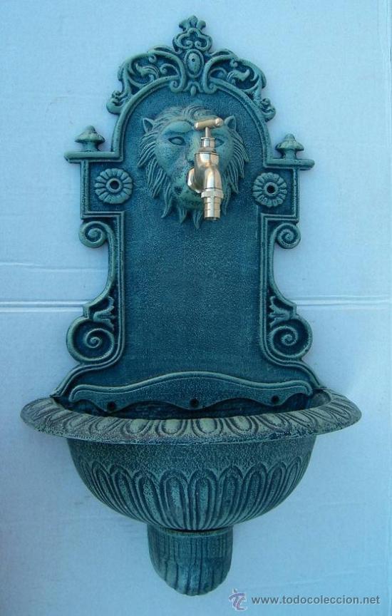 Fuente de hierro con grifo de laton jardin comprar - Fuentes de jardin de segunda mano ...