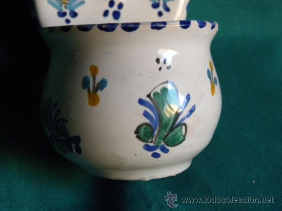 Antigüedades: Benditera aguabenditera pila cerámica Puente Arzobispo.Los Molinos.Cristo en la cruz - Foto 3 - 27907173