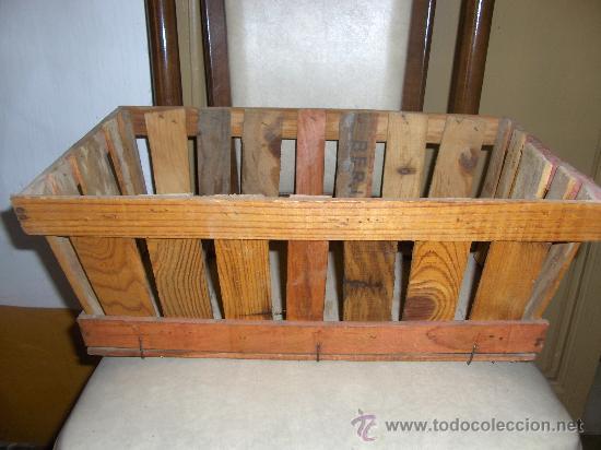 Cesta canasta antigua madera para uvas o tomate comprar for Utensilios del hogar