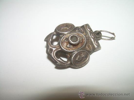 Antigüedades: ANTIGUO RELICARIO DE PLATA......SIGLO XIX. - Foto 2 - 27921541