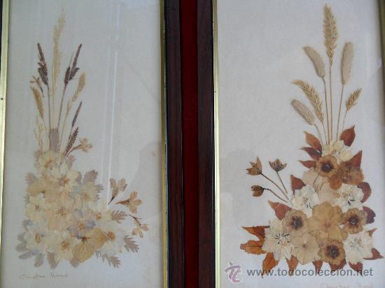 Pareja cuadros decorativos flores secas comprar marcos for Cuadros decorativos clasicos