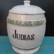 Antigüedades: ANTIGUO BOTE DE CAFE DE JUDIAS QUE CONSERVA SU TAPA MEDIDAS ALTO 20 CENTIMETROS Y PERIMETRO 16 CENTI. Lote 27937754
