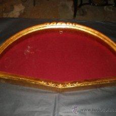 Antigüedades: ABANIQUERA DE MADERA Y PAN DE ORO. Lote 28412913