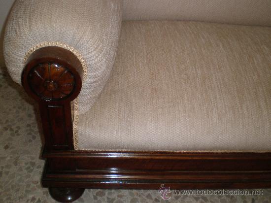 Antigüedades: sofa alto de nogal - Foto 5 - 27933917