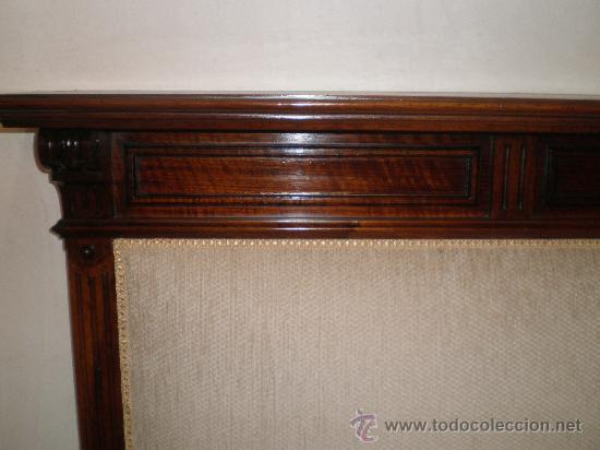 Antigüedades: sofa alto de nogal - Foto 4 - 27933917