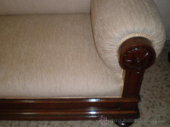 Antigüedades: sofa alto de nogal - Foto 3 - 27933917
