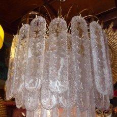 Antigüedades: LAMPARA TECHO (CHANDELIER MURANO MAZZEGA)VENINI LAMP. Lote 27938676