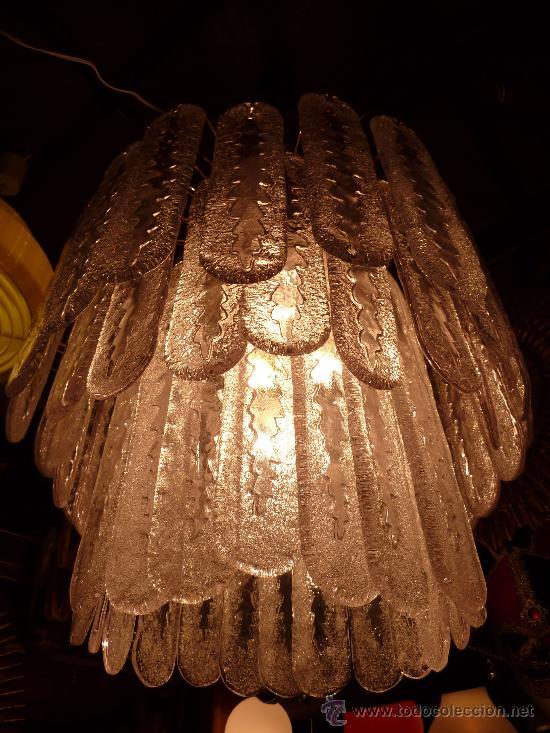 Antigüedades: LAMPARA TECHO (CHANDELIER MURANO MAZZEGA)VENINI LAMP - Foto 2 - 27938676
