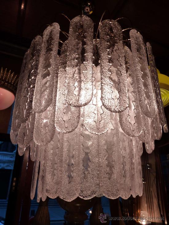 Antigüedades: LAMPARA TECHO (CHANDELIER MURANO MAZZEGA)VENINI LAMP - Foto 3 - 27938676