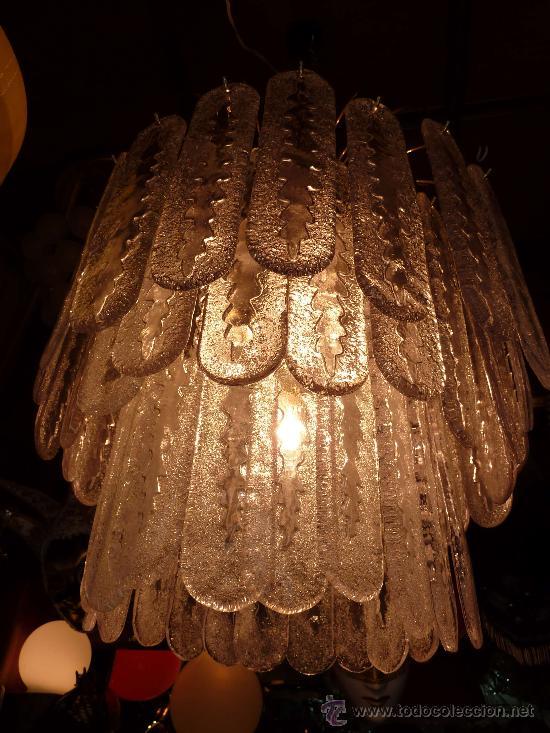 Antigüedades: LAMPARA TECHO (CHANDELIER MURANO MAZZEGA)VENINI LAMP - Foto 5 - 27938676