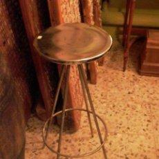 Antigüedades: TABURETE DE BAR FRANCES PLATEADO. Lote 27948006