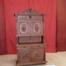 Antigüedades: APARADOR ALFONSINO CINEGÉTICO . Lote 27968739