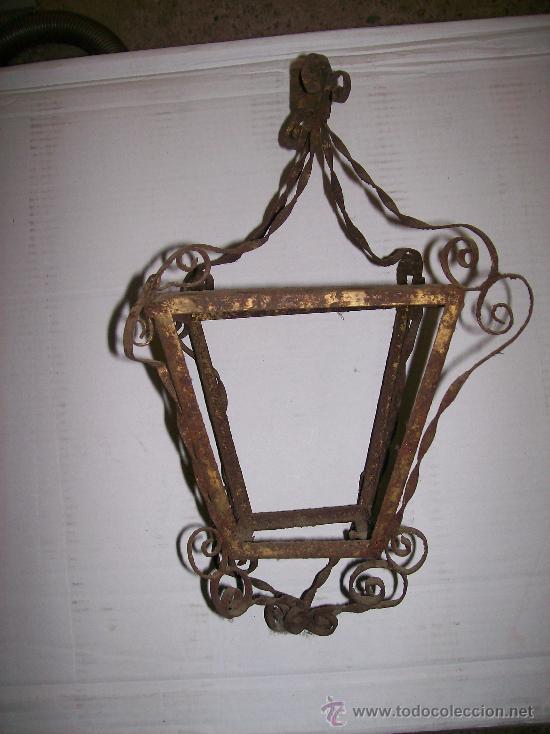 FAROL HIERRO (Antigüedades - Iluminación - Faroles Antiguos)