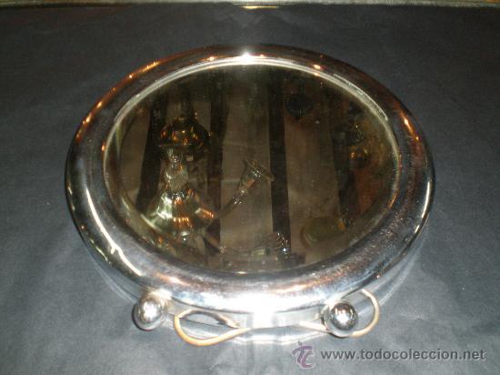 ESPEJO REDONDO DE METAL (Antigüedades - Muebles Antiguos - Espejos Antiguos)