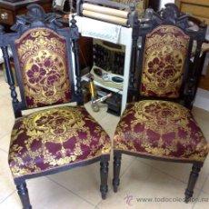 Antigüedades - PAREJA DE SILLAS ALFONSINAS - 28046145