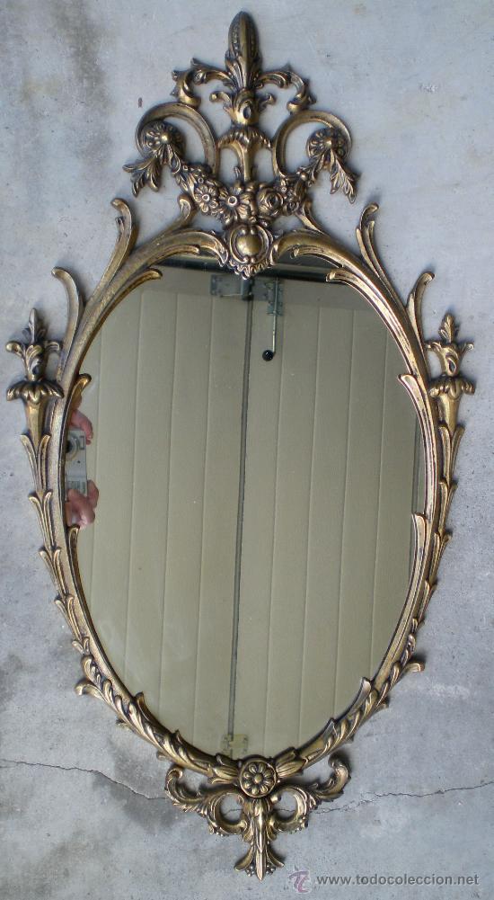 Espejo de bronce antiguo comprar espejos antiguos en - Espejo veneciano antiguo ...