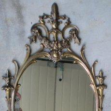 Antigüedades: ESPEJO DE BRONCE ANTIGUO. Lote 28047207