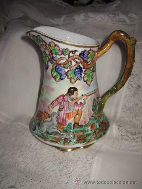 Antigüedades: BONITA JARRA CON ESCENAS DE CAZA - Foto 2 - 28047242