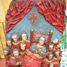 Antigüedades: RETABLO SIGLO XVIII, EXVOTO. Lote 28054868