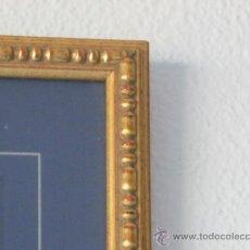 Antigüedades: MARCO MOLDURA DORADA CON BOTONES AÑOS 40. Lote 28088096