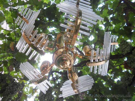 Antigüedades: PRECIOSA Y ANTIGUA LAMPARA . - Foto 3 - 28074005