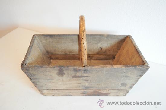 Cesta medida ferrado de madera comprar utensilios del - Cestos de madera ...
