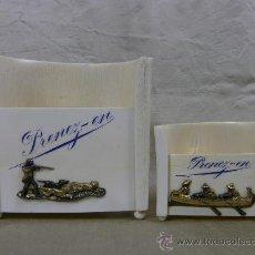 Coleccionismo: MARFIL SET DE FUMADOR CAZADOR EN MARFIL CON APLICACIONES DE COBRE DORADO. 2ª MITAD S XIX. Lote 28110060