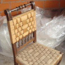 Antigüedades: SILLA FRANCESA TORNEADA CON ASIENTO DE CUERDA. ANTIGUA.. Lote 28111773