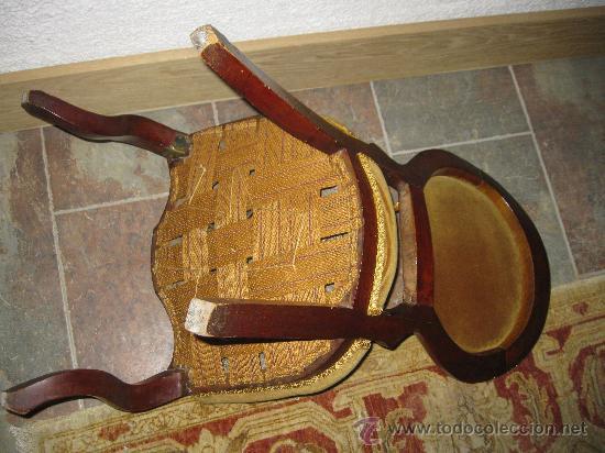 Antigüedades: Silla isabelina de caoba tapizada en , S. XIX - Foto 2 - 36809295