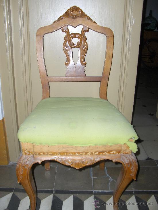 Silla antigua para tapizar vendido en venta directa - Precio tapizar sillas ...