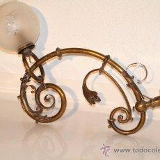 Antigüedades: LAMPARA DE LATON. Lote 28185368