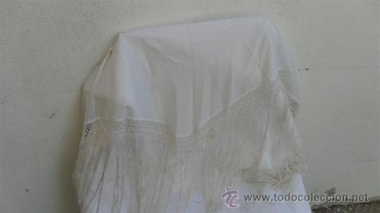 PAÑUELO BLANCO (Antigüedades - Moda - Mantones Antiguos)