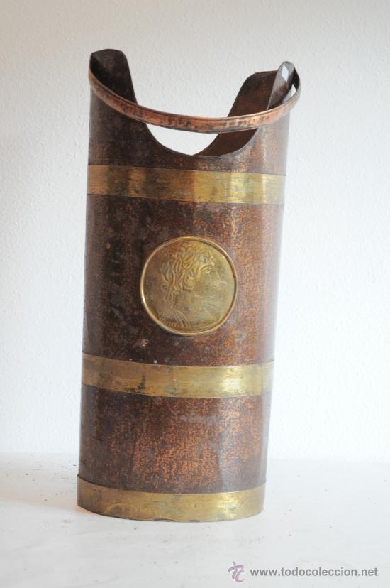 PARAGUERO DE LATON CHAPA Y COBRE (Antigüedades - Varios)