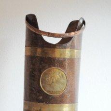Antigüedades - PARAGUERO DE LATON CHAPA Y COBRE - 28253741