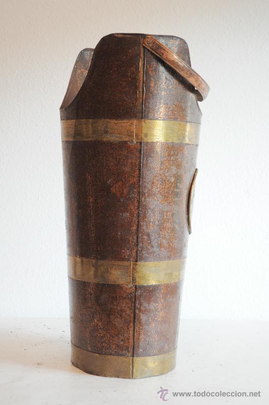 Antigüedades: PARAGUERO DE LATON CHAPA Y COBRE - Foto 2 - 28253741