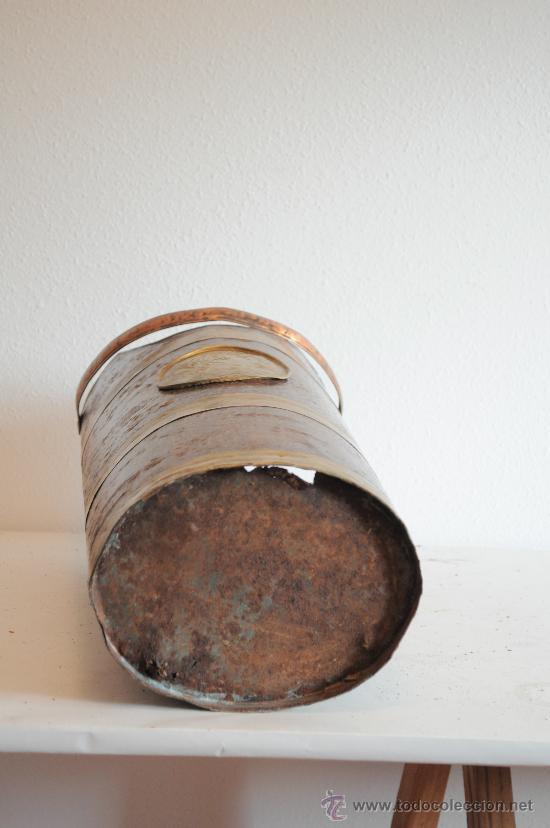 Antigüedades: PARAGUERO DE LATON CHAPA Y COBRE - Foto 4 - 28253741