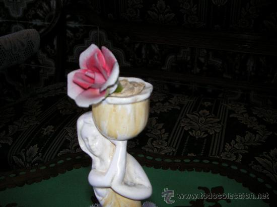 Antigüedades: FIGURA ANTIGUA DE PORCELANA HECHA A MANO SELLADA POR WORK OF ART - Foto 2 - 28255049