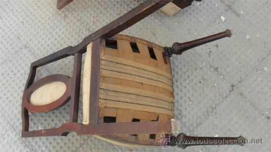 Antigüedades: silla de caoba con embellesedores de bronce - Foto 4 - 28270105