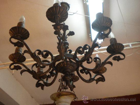 Lampara de hierro forjado de dise o floral comprar for Hierro forjado disenos
