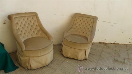 pareja de sillones de dormitorio