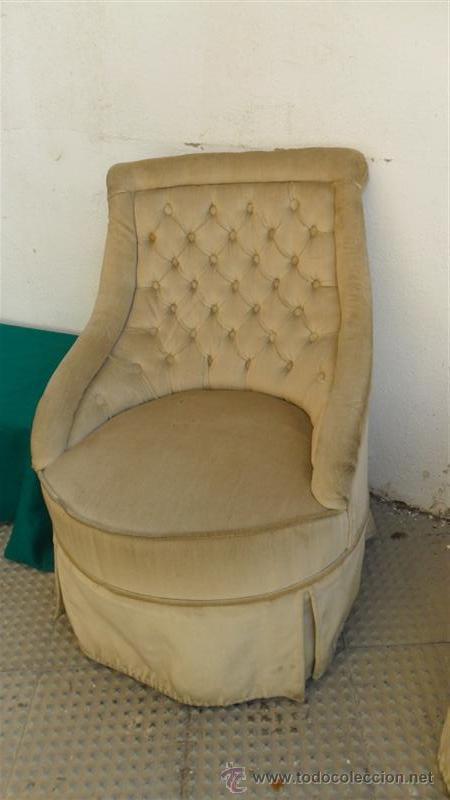 Antigüedades: pareja de sillones de dormitorio - Foto 3 - 28277021