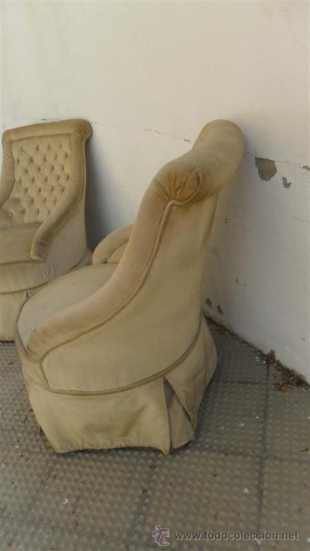 Antigüedades: pareja de sillones de dormitorio - Foto 4 - 28277021