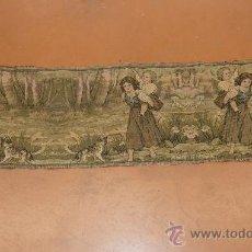 Antigüedades: TAPIZ MECANICO DE AÑOS 50S. MIDE 35 CM X 132 CM. . Lote 31039320