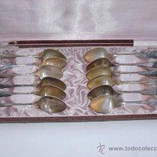Antigüedades: JUEGO DE 12 CUCHARILLAS ANTIGUAS .. Lote 28286898